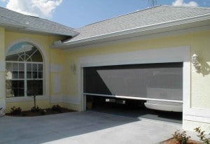 depending on the size of your garage opening one of our four large opening models of mirage retractable screen systems will fit it