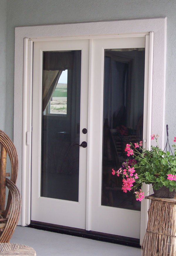 Mirage french double door retractable screen gallery for Double outswing exterior french doors