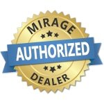 Mirage Retractable Screen Door dealer-badge