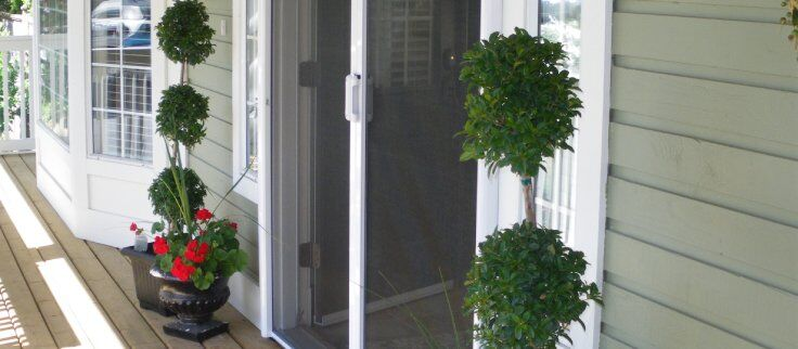mirage retratcable screen door solution has high curb appeal