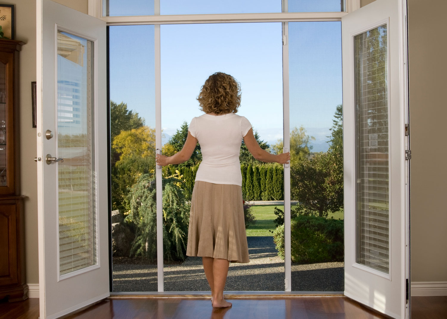 Allowing cool breeze into your home with Mirage Retractable Screen & Retractable Screen Doors \u0026 Screening Solutions | Mirage Screen Systems